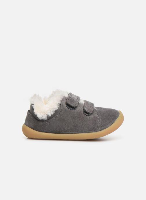 Schoenen met klitteband Clarks Roamer Craft T warm Grijs achterkant