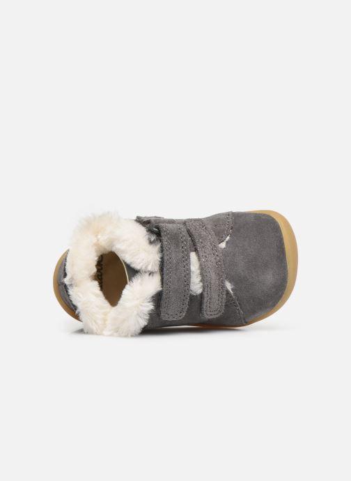 Schoenen met klitteband Clarks Roamer Craft T warm Grijs links
