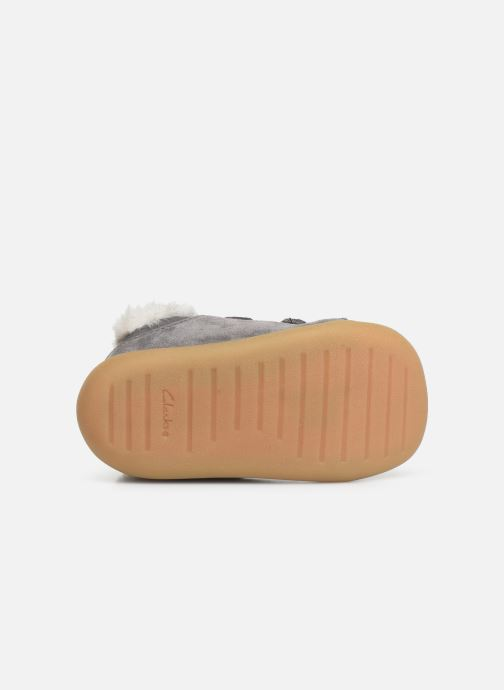 Schoenen met klitteband Clarks Roamer Craft T warm Grijs boven