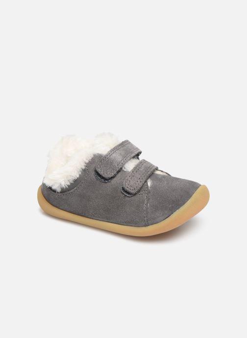 Schoenen met klitteband Clarks Roamer Craft T warm Grijs detail