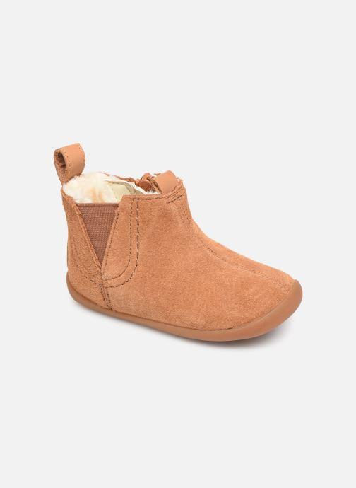 Bottines et boots Clarks Roamer Free T Marron vue détail/paire