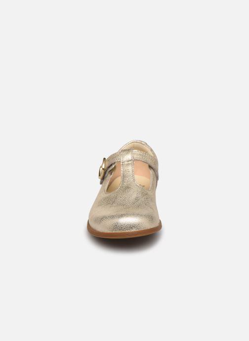 Ballerines Clarks Drew Shine T Or et bronze vue portées chaussures