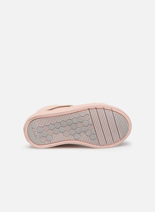 Trainers Clarks City Oasis HT Pink view from above
