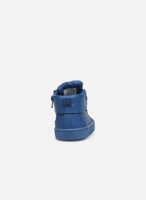 Baskets Clarks City Oasis HT Bleu vue droite