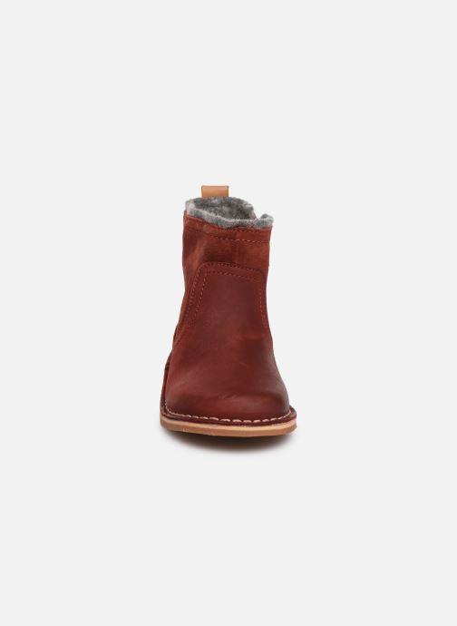 Bottines et boots Clarks Comet Frost T Rouge vue portées chaussures