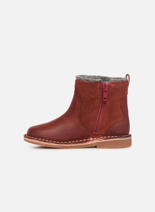 Bottines et boots Clarks Comet Frost T Rouge vue face