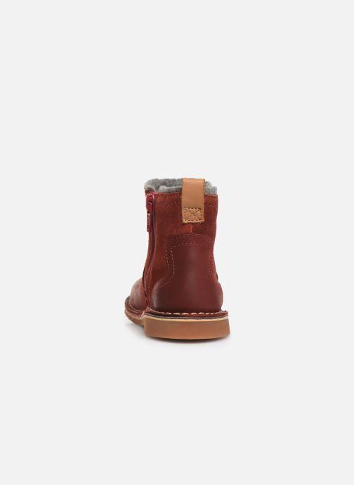 Bottines et boots Clarks Comet Frost T Rouge vue droite
