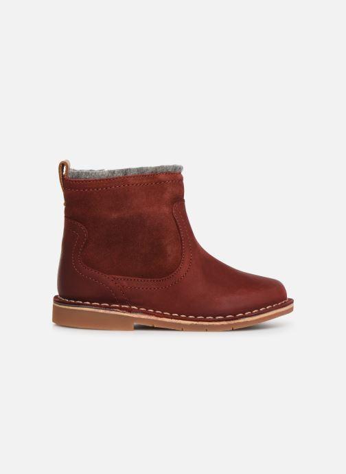 Bottines et boots Clarks Comet Frost T Rouge vue derrière