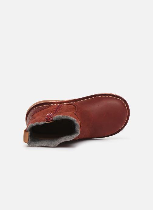Bottines et boots Clarks Comet Frost T Rouge vue gauche