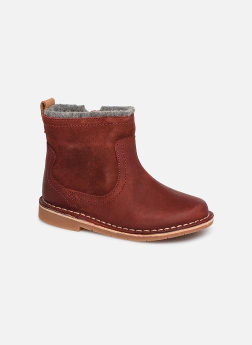 Bottines et boots Clarks Comet Frost T Rouge vue détail/paire