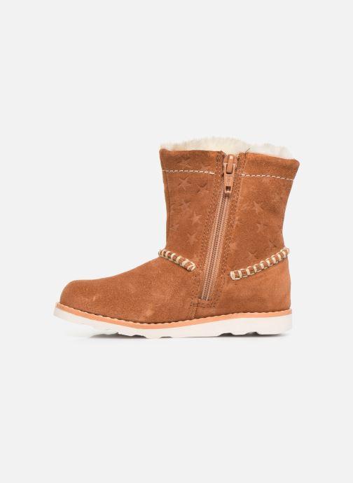 Boots en enkellaarsjes Clarks Crown Piper T Bruin voorkant
