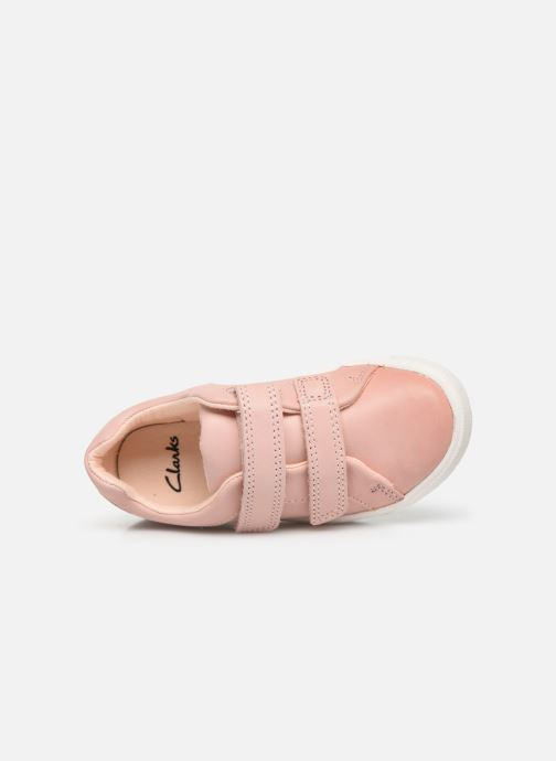 Baskets Clarks City OasisLo T Rose vue gauche