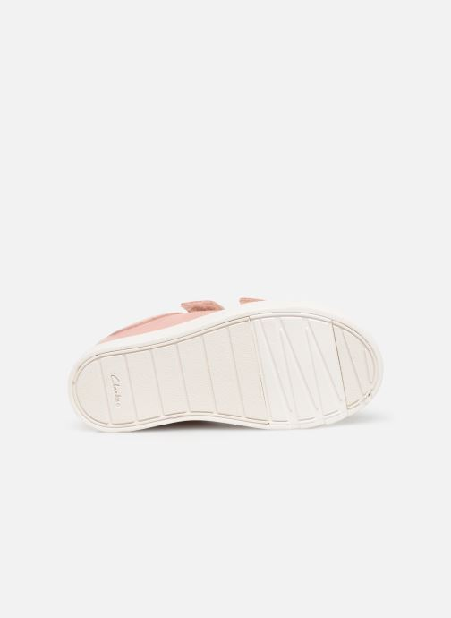 Baskets Clarks City OasisLo T Rose vue haut