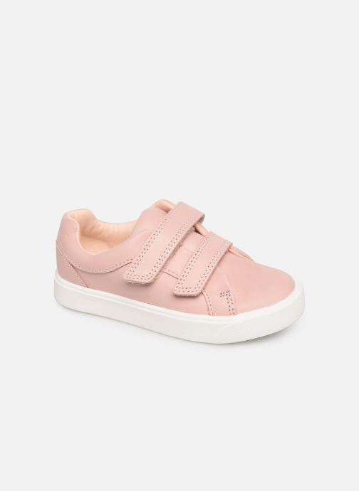 Baskets Clarks City OasisLo T Rose vue détail/paire