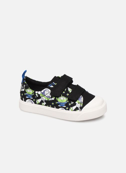 Baskets Clarks City Team x Toy Story Noir vue détail/paire