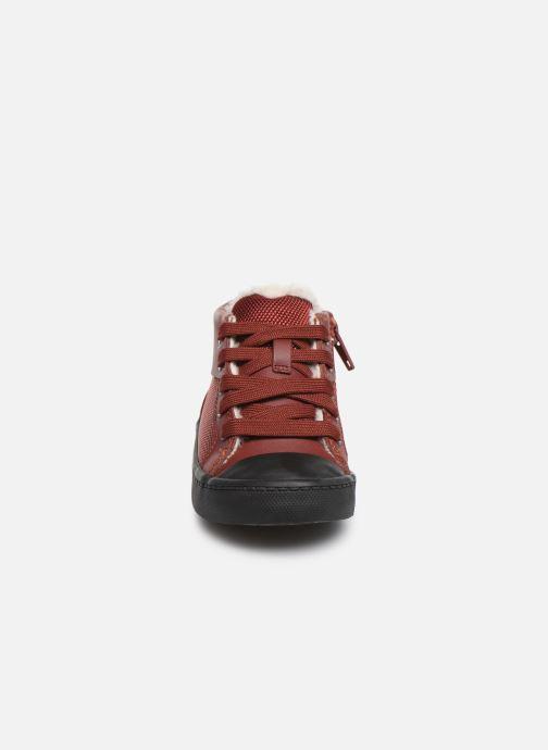 Baskets Clarks City Peak T warm Rouge vue portées chaussures