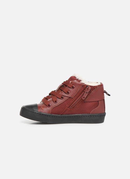Baskets Clarks City Peak T warm Rouge vue face