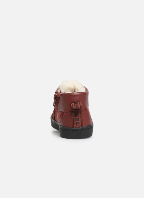 Baskets Clarks City Peak T warm Rouge vue droite