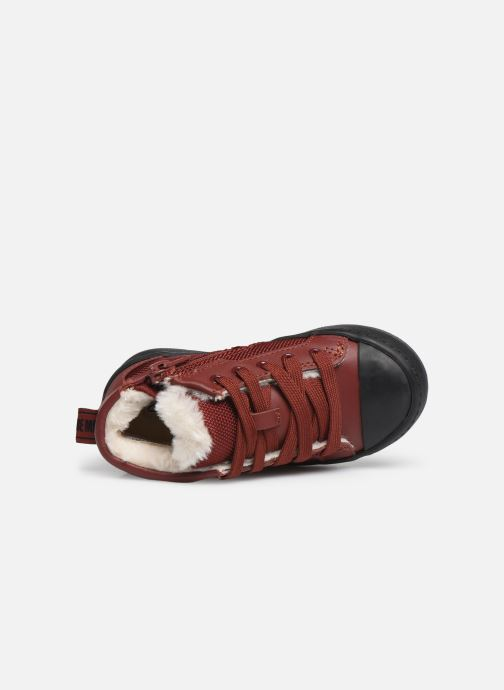 Trainers Clarks City Peak T warm Red view from the left