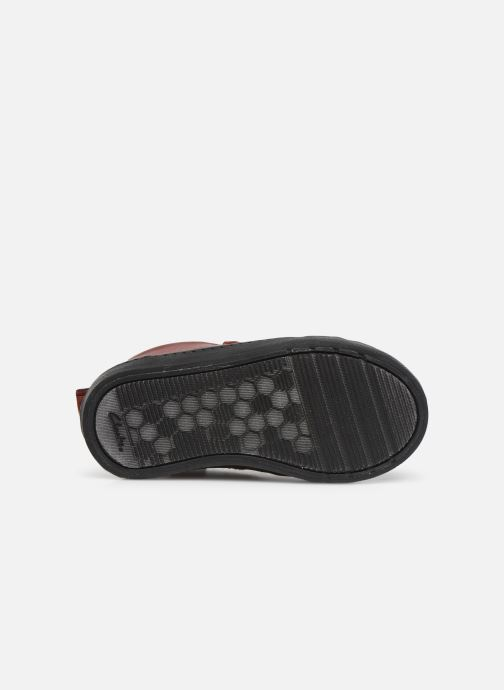 Baskets Clarks City Peak T warm Rouge vue haut