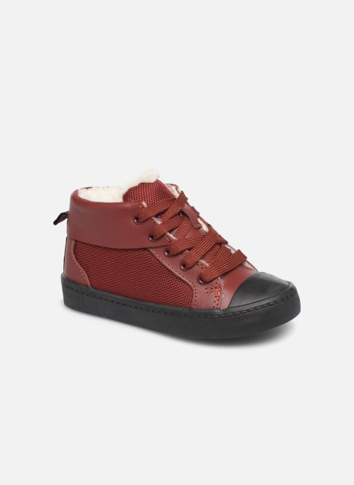 Baskets Clarks City Peak T warm Rouge vue détail/paire