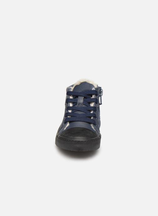 Sneaker Clarks City Peak T warm blau schuhe getragen