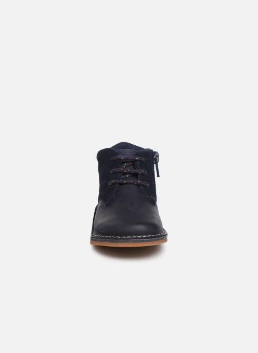 Chaussures à lacets Clarks Comet Radar T Bleu vue portées chaussures