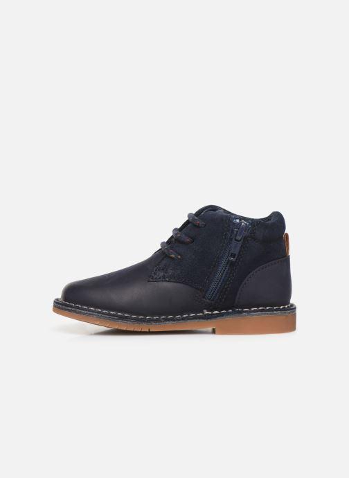 Chaussures à lacets Clarks Comet Radar T Bleu vue face