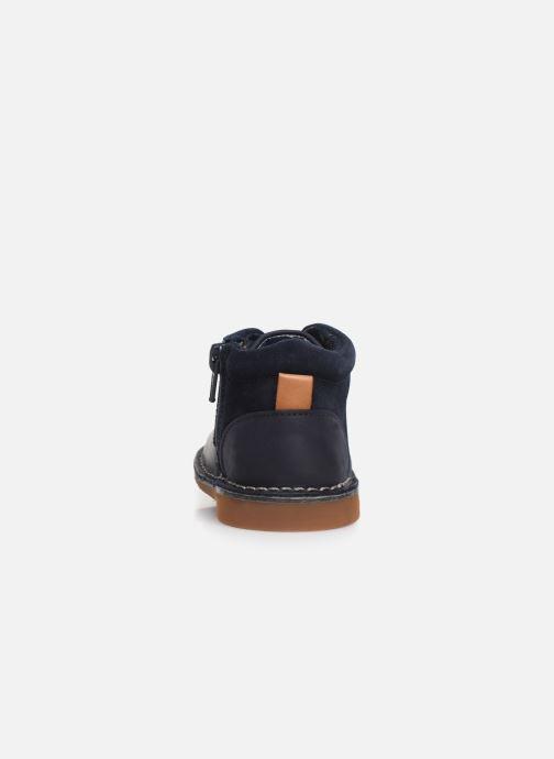 Chaussures à lacets Clarks Comet Radar T Bleu vue droite