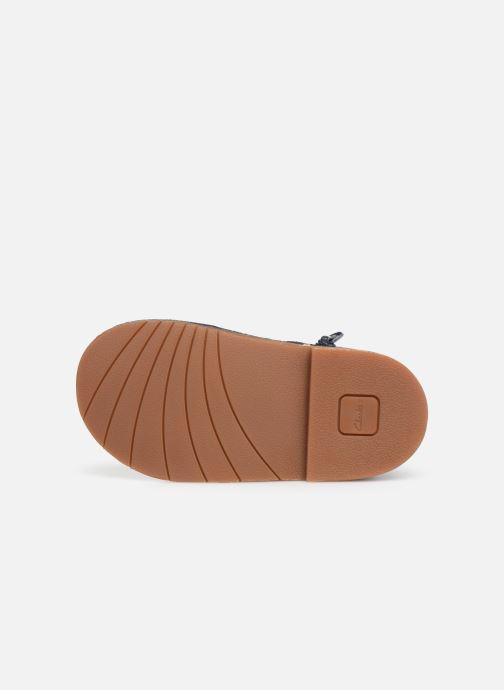 Chaussures à lacets Clarks Comet Radar T Bleu vue haut