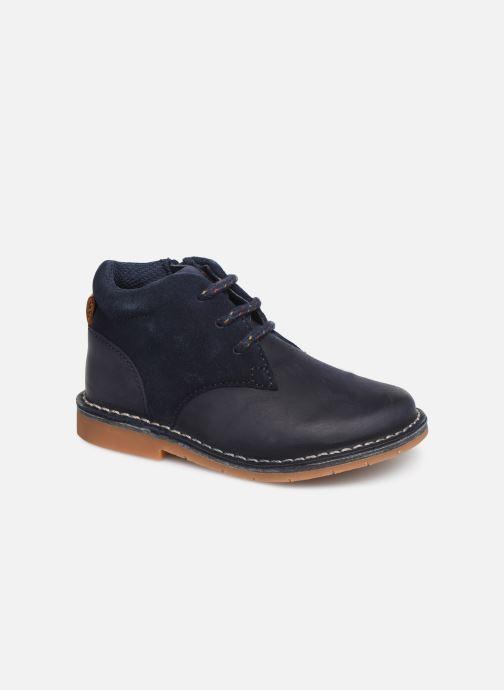 Chaussures à lacets Clarks Comet Radar T Bleu vue détail/paire