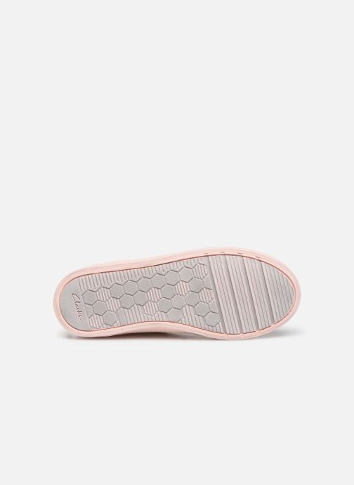 Trainers Clarks City OasisHi K Pink view from above