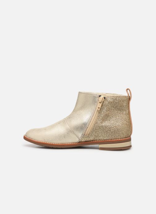 Boots en enkellaarsjes Clarks Drew Fun K Goud en brons voorkant