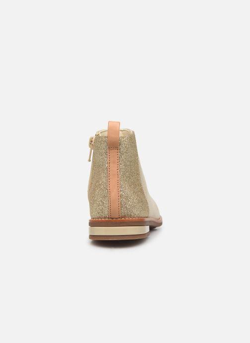Bottines et boots Clarks Drew Fun K Or et bronze vue droite
