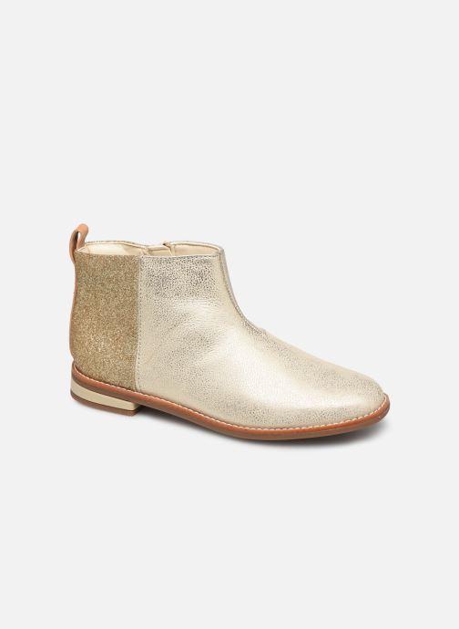 Bottines et boots Clarks Drew Fun K Or et bronze vue détail/paire