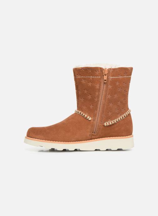 Boots en enkellaarsjes Clarks Crown Piper K Bruin voorkant