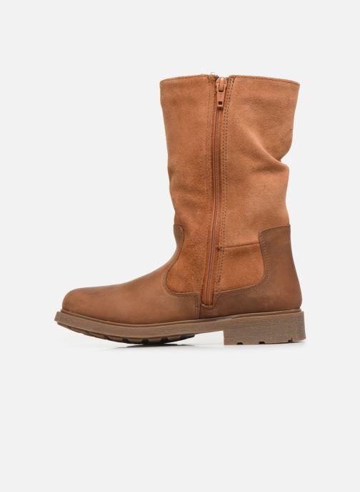 Støvler & gummistøvler Clarks Astrol Rise K WP Brun se forfra
