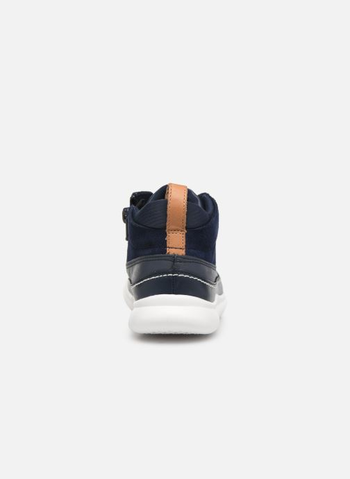 Baskets Clarks Cloud Air K Bleu vue droite