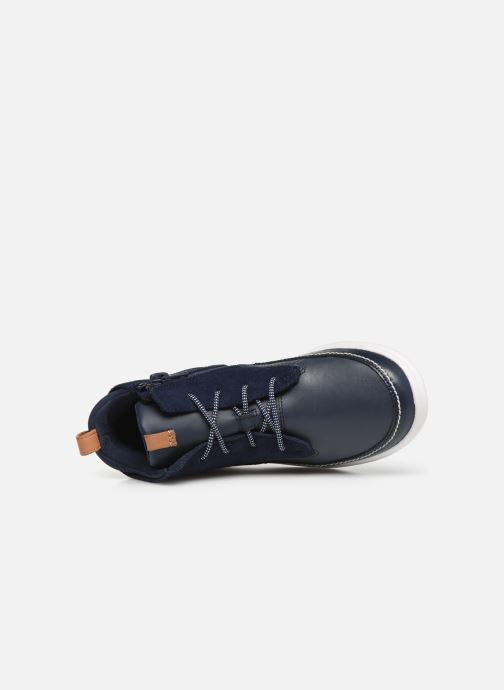 Baskets Clarks Cloud Air K Bleu vue gauche