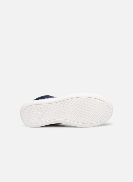 Baskets Clarks Cloud Air K Bleu vue haut