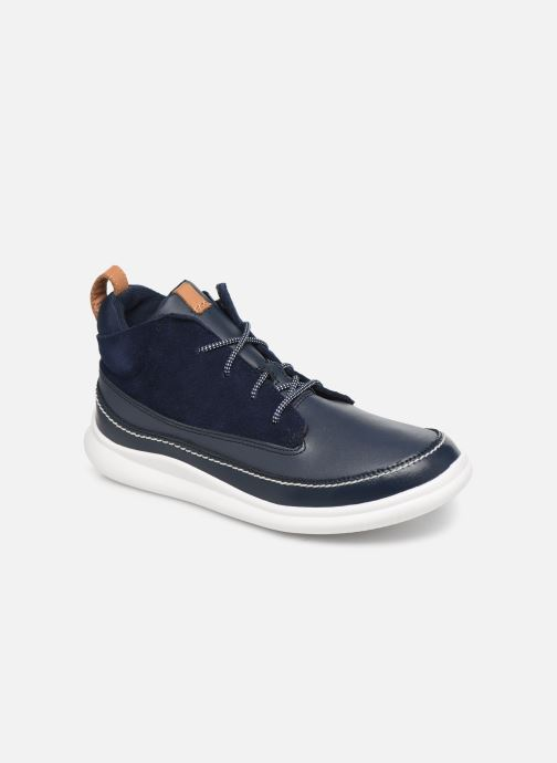Baskets Clarks Cloud Air K Bleu vue détail/paire