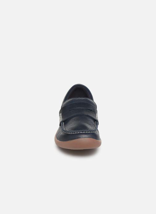 Mocassins Clarks ArtistStride K Bleu vue portées chaussures