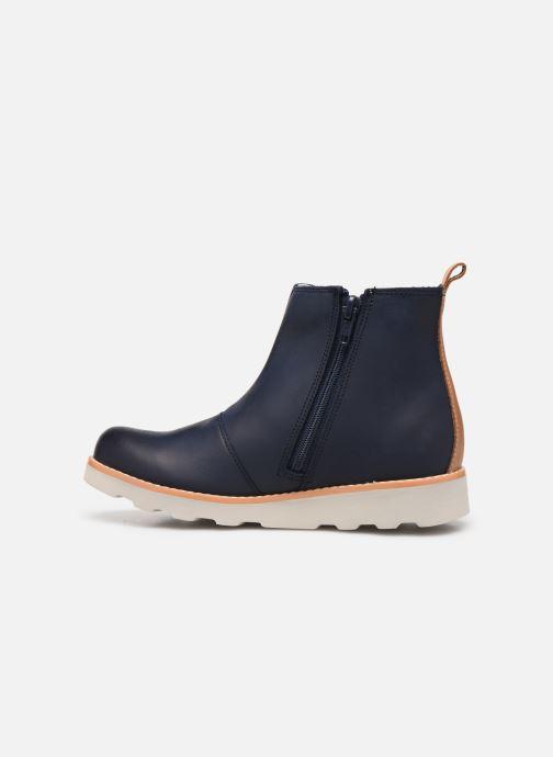 Bottines et boots Clarks Crown Halo K Bleu vue face