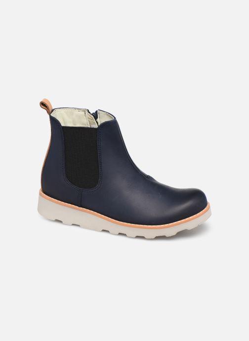 Bottines et boots Clarks Crown Halo K Bleu vue détail/paire