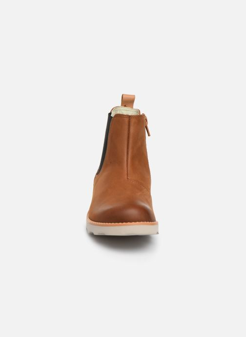 Ankle boots Clarks Crown Halo K Brown model view