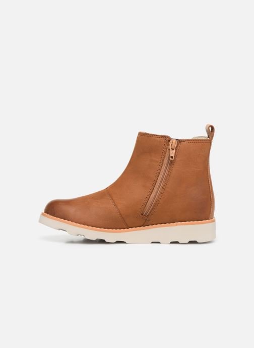 Ankle boots Clarks Crown Halo K Brown front view