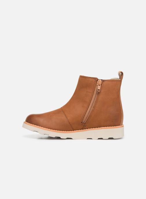 Boots en enkellaarsjes Clarks Crown Halo K Bruin voorkant