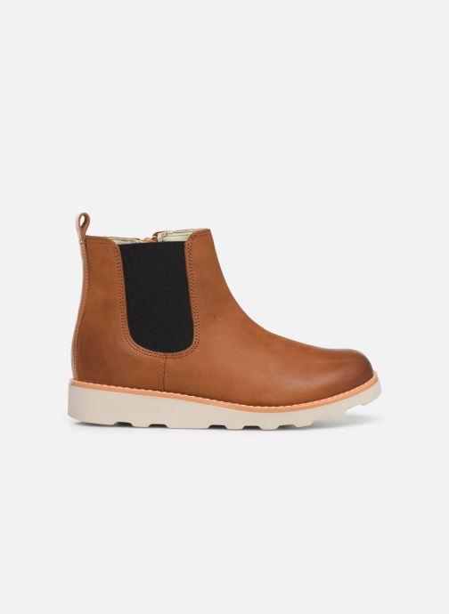 Boots en enkellaarsjes Clarks Crown Halo K Bruin achterkant