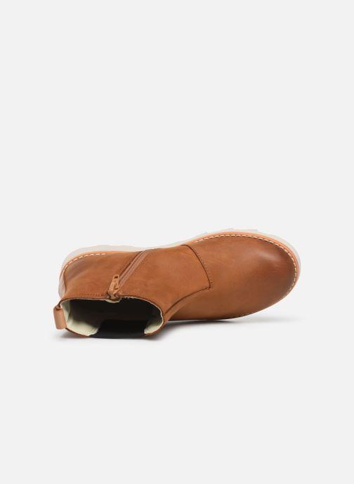 Boots en enkellaarsjes Clarks Crown Halo K Bruin links