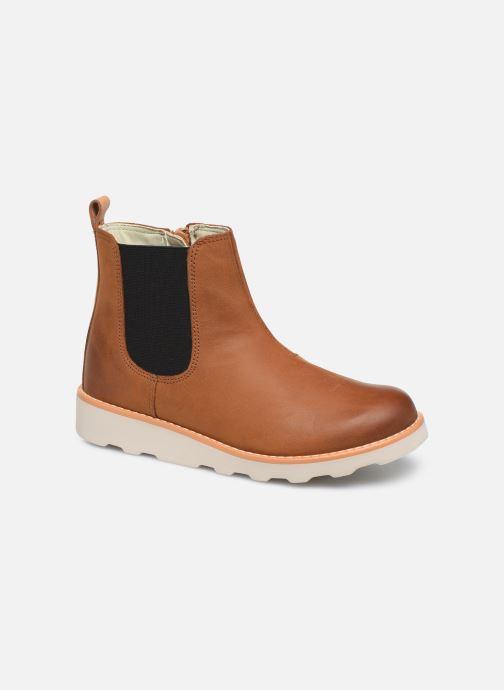 Bottines et boots Clarks Crown Halo K Marron vue détail/paire